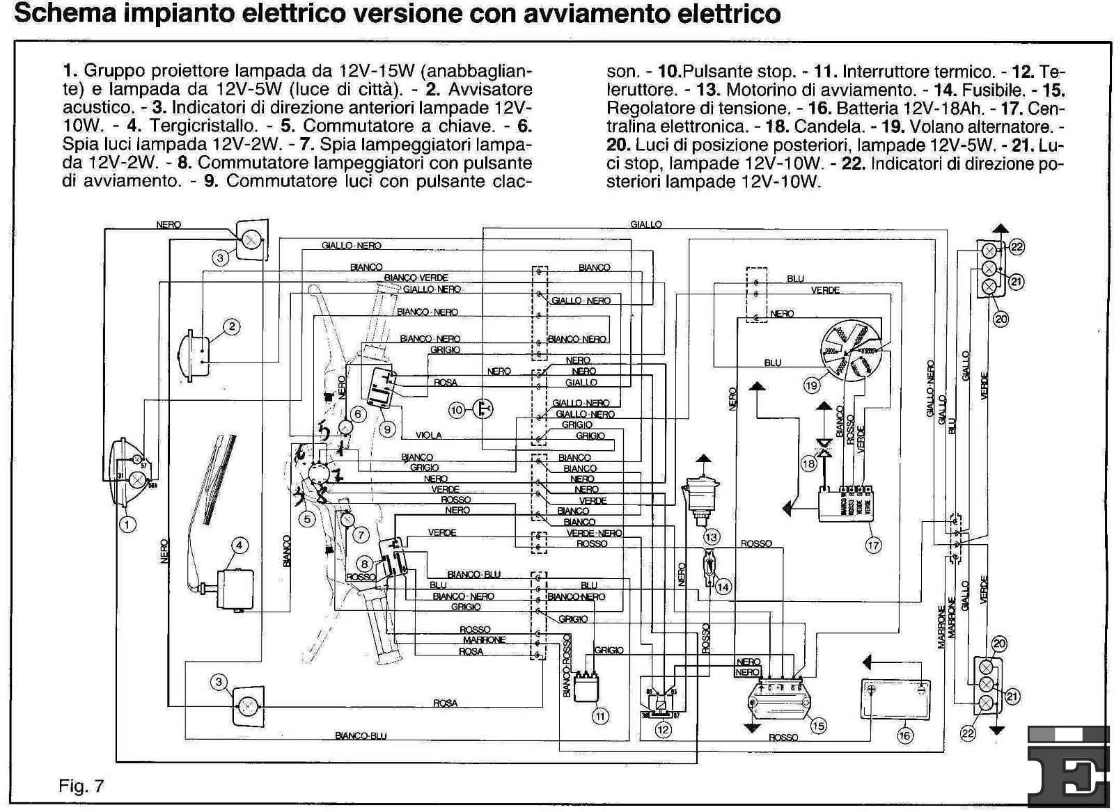 Schema Elettrico Lampada : Schema elettrico ape gli album degli utenti et3.it il forum