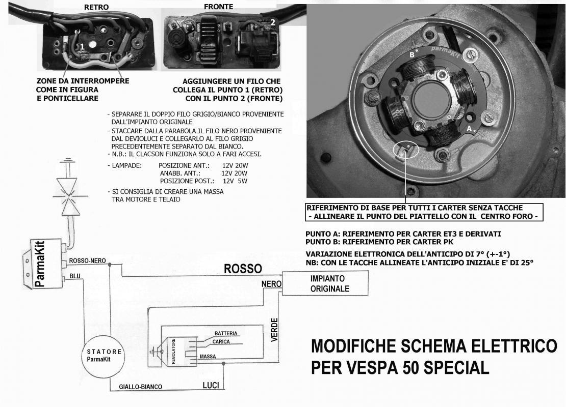 Schema Elettrico Per Accensione Led : Guida accensioni vespa le guide tecniche et