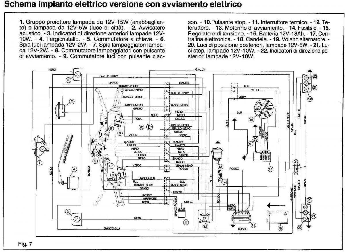 Schema Elettrico Et : Schema elettrico ape piaggio idee per l immagine del