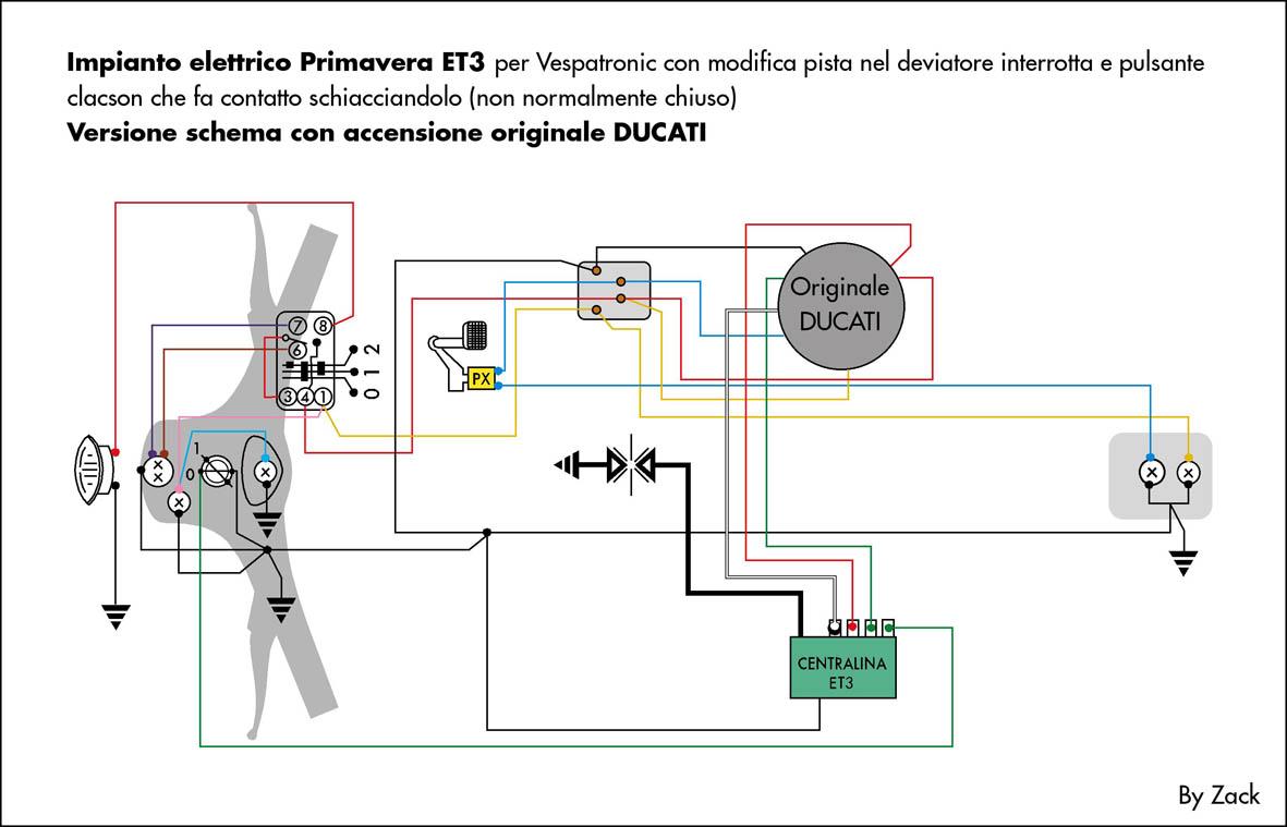 Schema Elettrico Et3 : Schema elettrico vespa et kb impianto