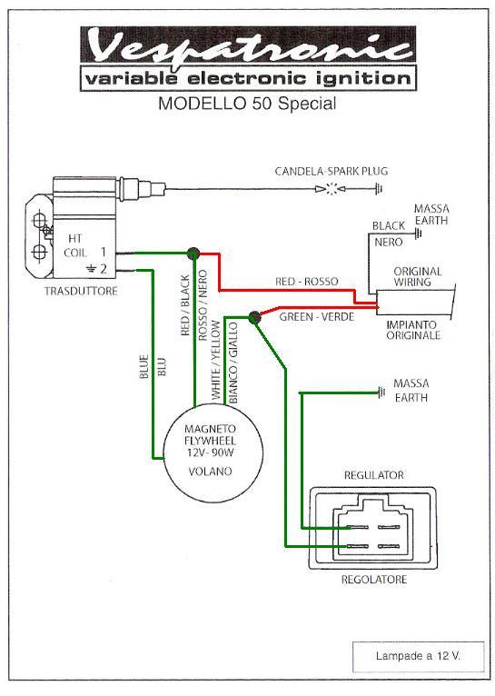 Schema Elettrico Regolatore Di Tensione Ducati : Alloggiamento regolatore di tensione e bobina vespatronic