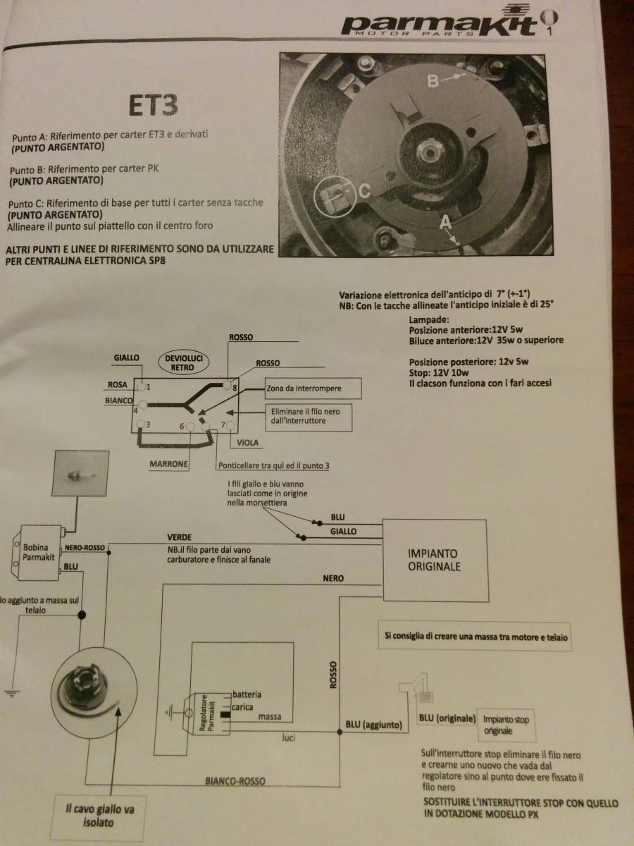 Schema Elettrico Per Accensione Led : Impianto v cc antifurto contagiri led e riserva elettrica ed